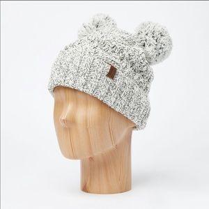 Roots Double Pom Pom Beanie Hat